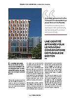Article conservatoire, Boston, USA